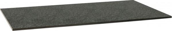 Stern Tischplatte 160x90 cm Granit dunkelgrau gebürstet