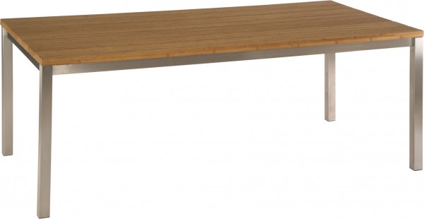 Stern Tisch 160x90 cm Edelstahl Vierkantrohr