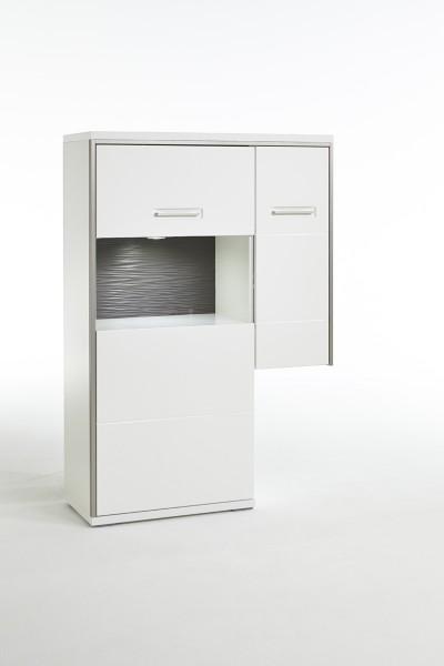 MCA Anstell-Highboard L Trento weiß Hochglanz