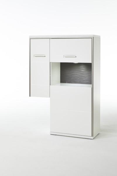 MCA Anstell-Highboard R Trento weiß Hochglanz