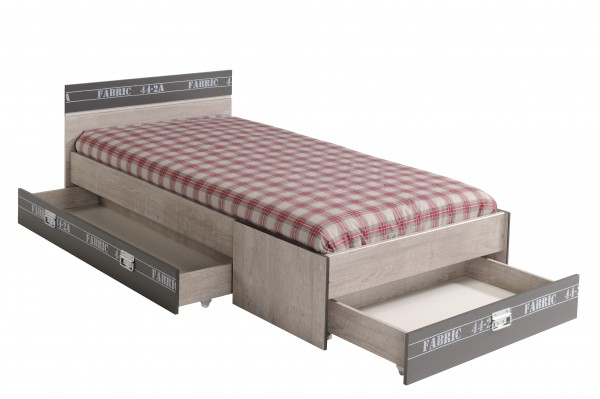 Kinderbett Parisot Fabric inklusive Bettkasten Set