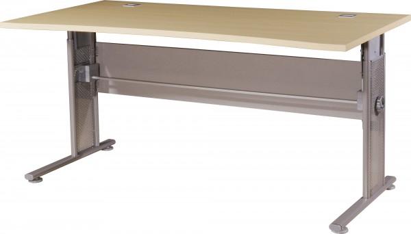 Schreibtisch Ahorn-Nb. / silber