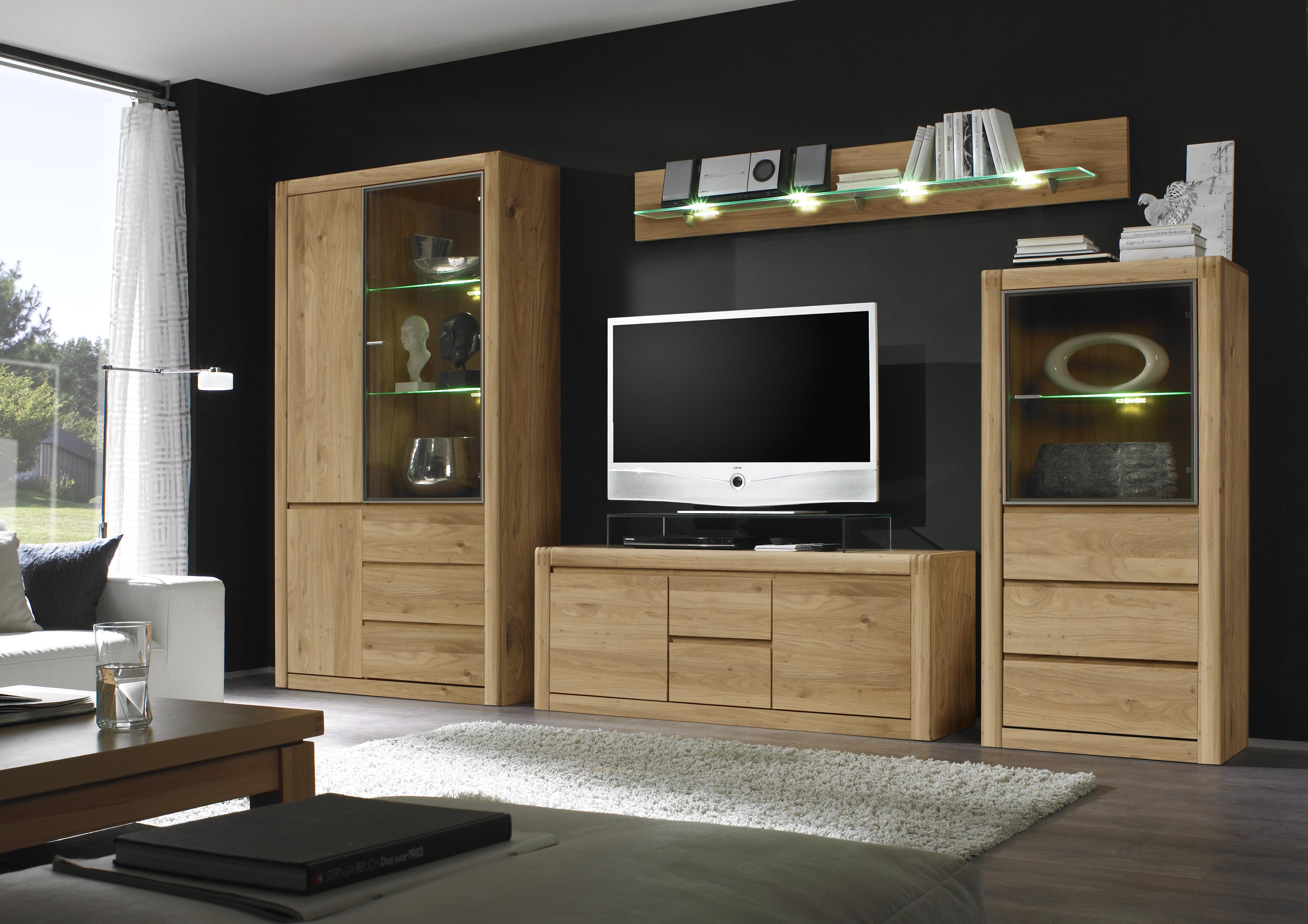 Kerkhoff wohnwand ponto iii eiche bianco oder kernbuche for Wohnzimmerschrank modern wohnzimmer