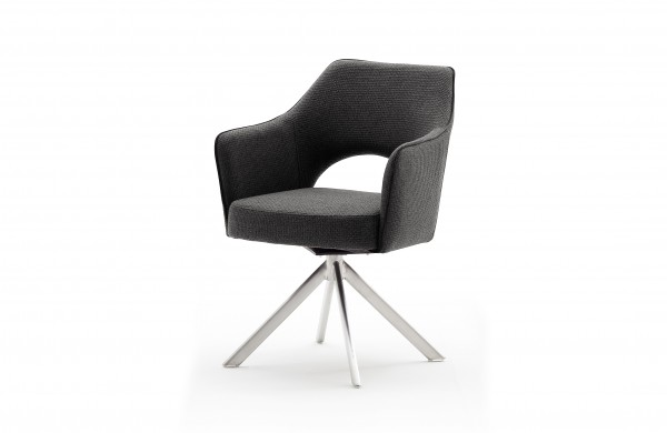 MCA TONALA 4-Fuß Stuhl mit Armlehne Edelstahl Gestell