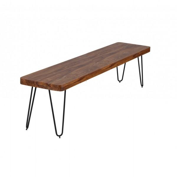 WOHNLING Esszimmer BAGLI Sitzbank Massiv Holz Sheesham 180 X 45 X 40 Cm  Holz