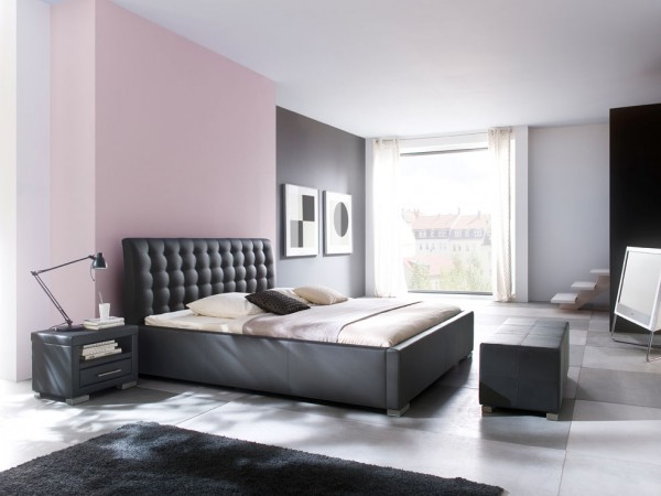 Meise Möbel Polsterbett Isa Comfort schwarz