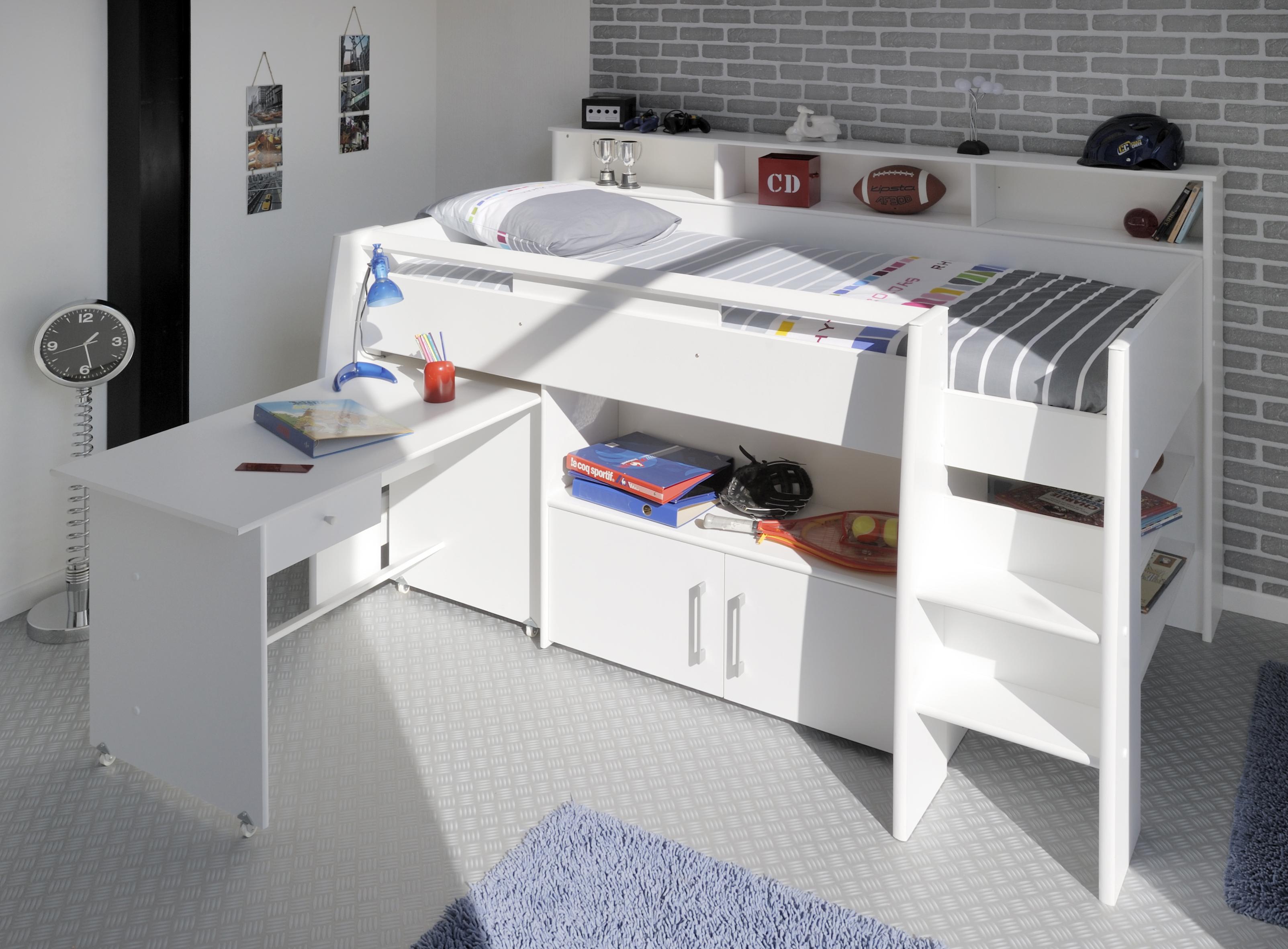 Etagenbett Bibop Parisot : Kinderzimmer bibop parisot weiß bett lattenrostplatten