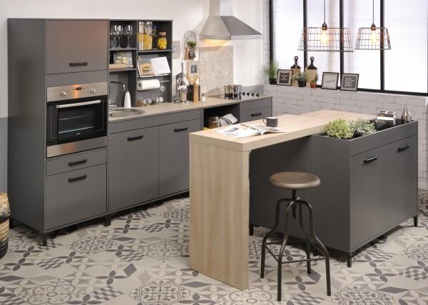 Küchenzeile Moove1 grau