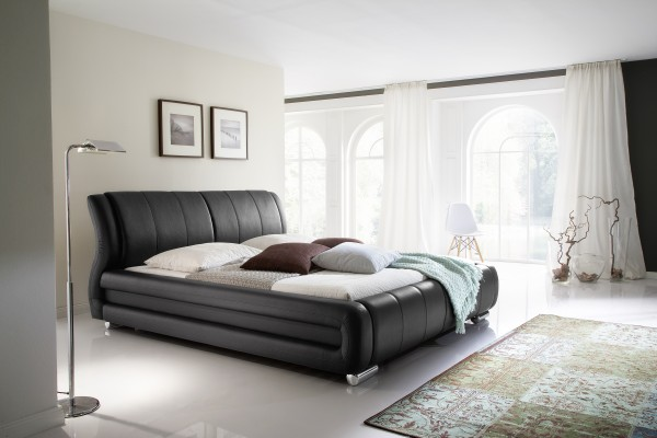 meise.möbel Polsterbett Bolzano mit Kunstlederbezug schwarz