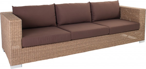 Stern Sofa 3-Sitzer Avola 78x210x65 cm Geflecht natur