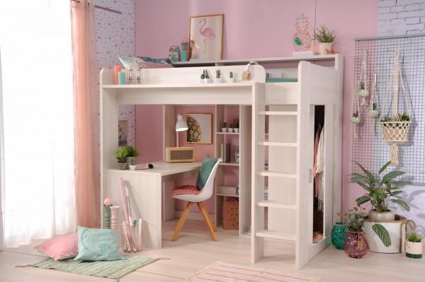 Kinder Hochbett Higher 1 mit Schreibtisch