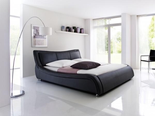 meise.möbel Polsterbett Soma mit Kunstlederbezug schwarz