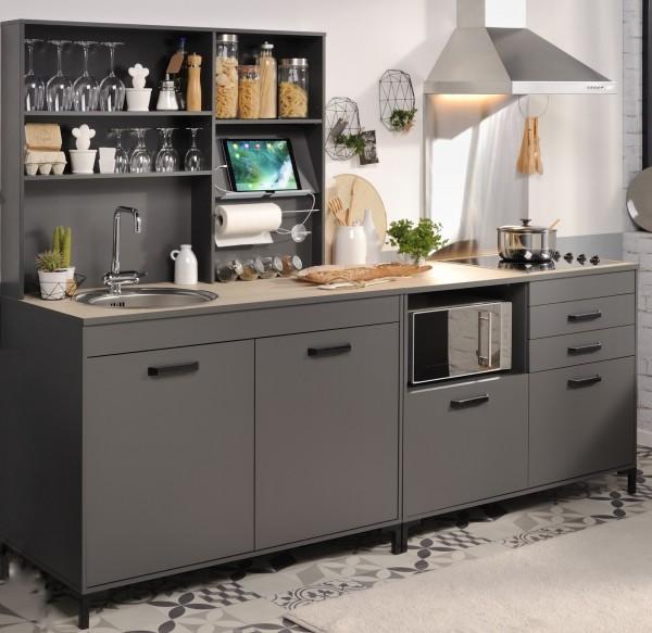 Küchenzeile Moove2 grau