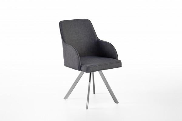 MCA Stuhl Elara (2er-Set) 4-Fuß Gestell 180° drehbar mit Nivellierung