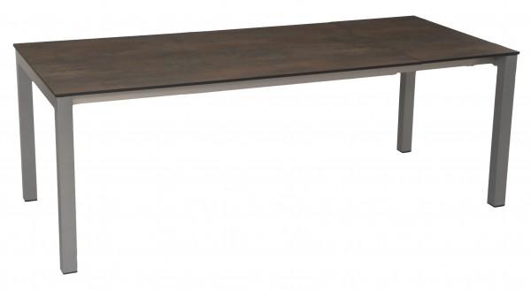 Stern Ausziehtisch 200/260x100 cm Aluminium graphit Tischplatte Silverstar Ferro