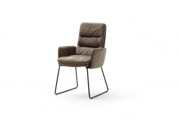 MCA Furniture Kufenstuhl (2er-Set) Westminster mit Armlehnen