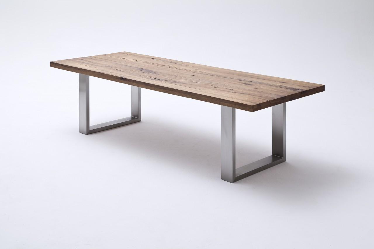 MCA Furniture Esstisch Kufentisch Castello Eiche Massiv | Möbeltraum24.de Amazing Design