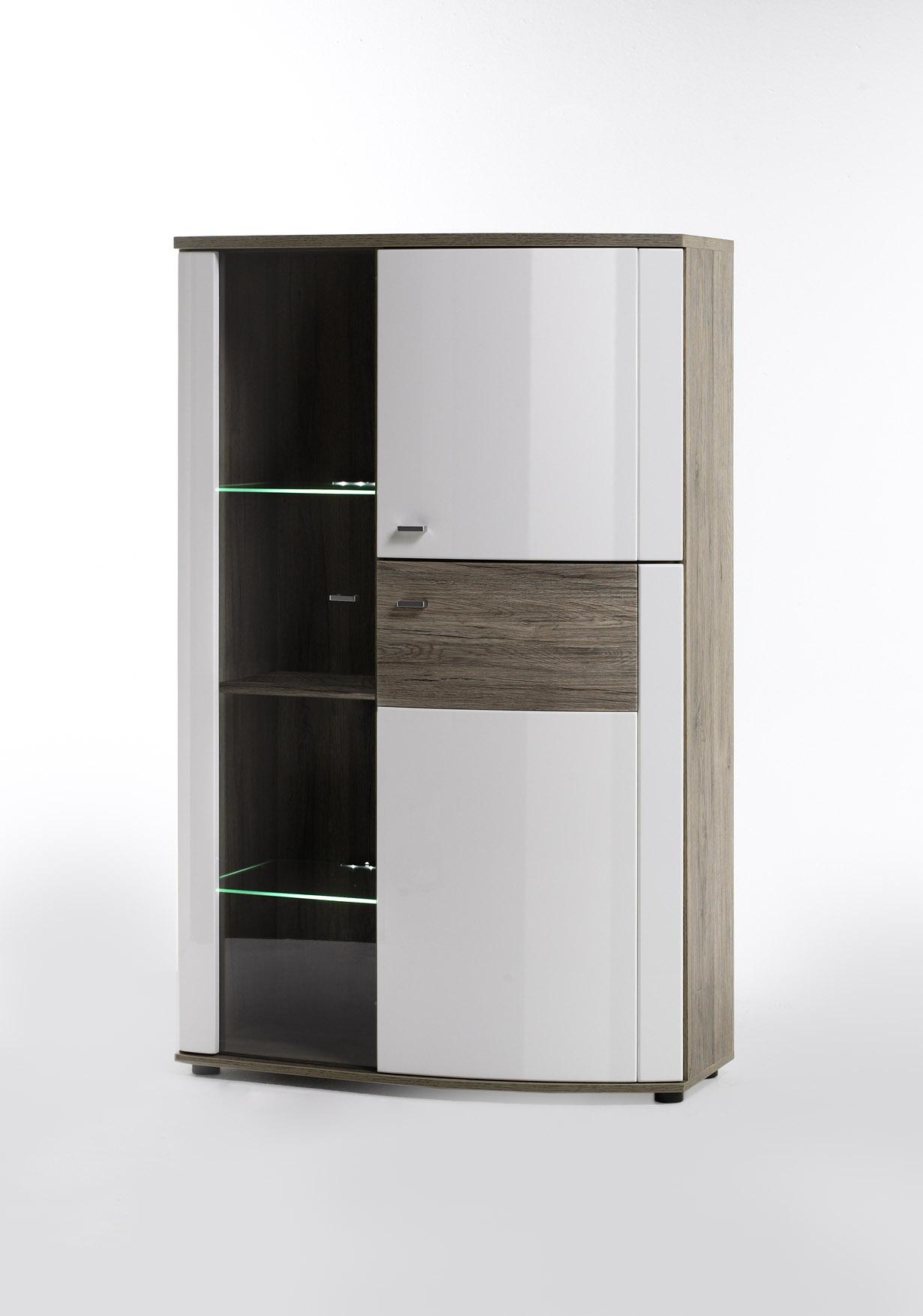 MCA Kombi Highboard Modena Weiß | Vitrinen U0026 Regale | Wohnzimmer |  Möbeltraum24.de