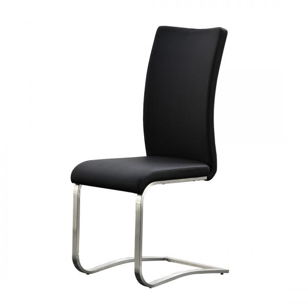 7 Stück MCA Furniture Stuhl Arco 2 Echt Leder schwarz