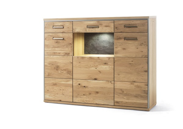 MCA Highboard Espero Eiche massiv