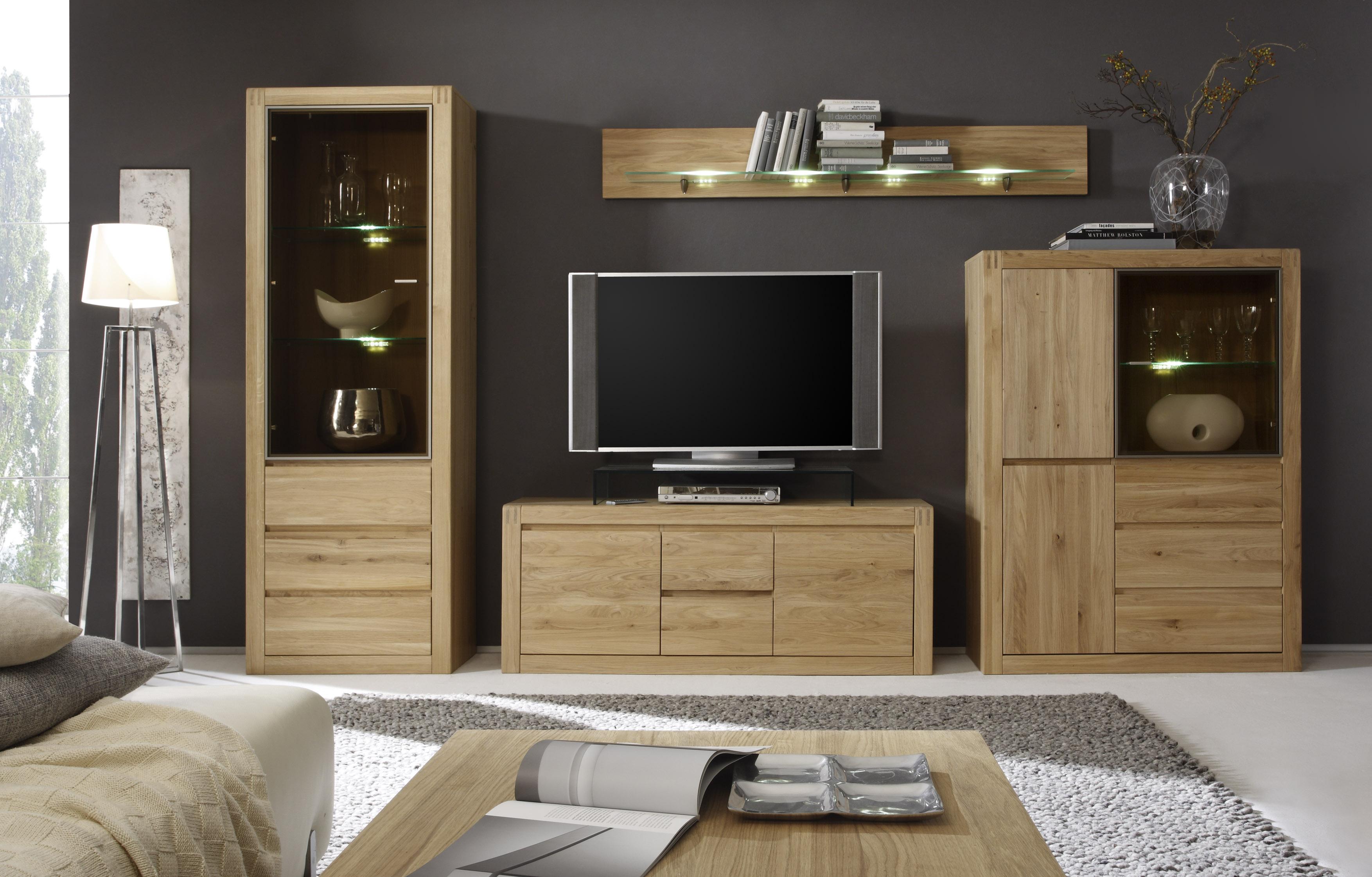 kerkhoff wohnwand ponto v in eiche biano oder kernbuche. Black Bedroom Furniture Sets. Home Design Ideas